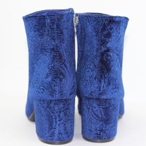Zigi Soho Shoes - New Zigi Soho Blue Velvet Burnout Boots Booties